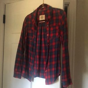 Red & Blue plaid flannel